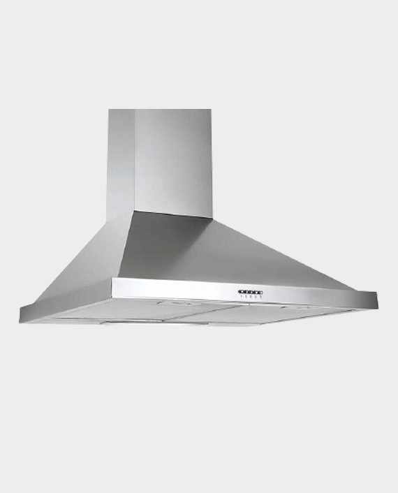 White Daisy Gusto 90cm Pyramid Chimney Hood Inox in Qatar