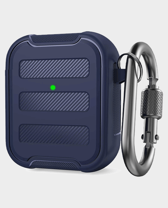 AhaStyle PT115-A AirPods 1&2 Rugged Armor Protection Case Midnight Blue in Qatar