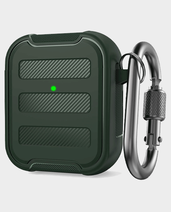 AhaStyle PT115-A AirPods 1&2 Rugged Armor Protection Case Midnight Green in Qatar