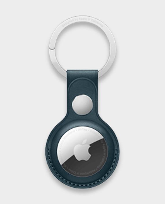 Apple AirTag Leather Key Ring Baltic Blue in Qatar