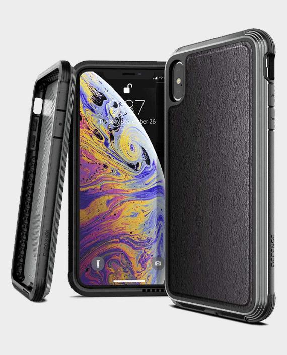 X-Doria iPhone XS Max Defense Lux Back Case Black Leather