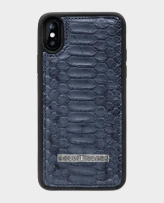 Gold Black Exotic Iphone Xs Case Python Navy Blue in Qatar