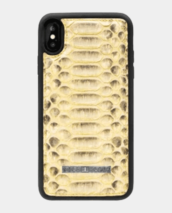 Gold Black Exotic Iphone Xs Case Python Yellow in Qatar