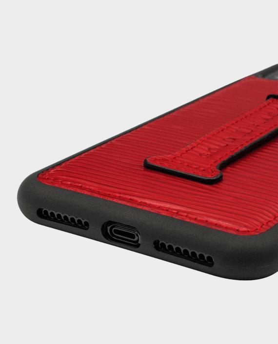 Gold Black iPhone X Finger Holder Case Unico Red