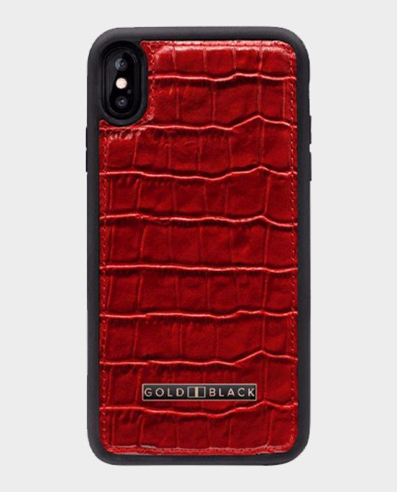 Gold Black iPhone Xs Max Case Croco Red in Qatar