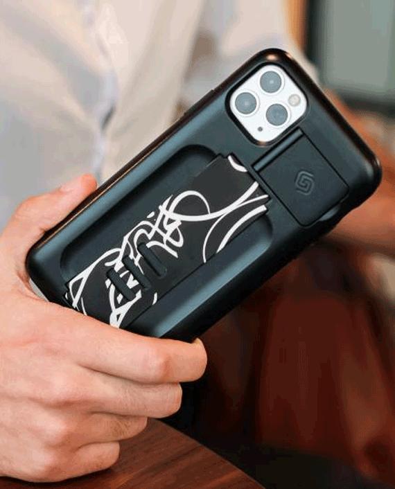 Grip2u Replacement Pin Cap Medium Band Calligraphy Black