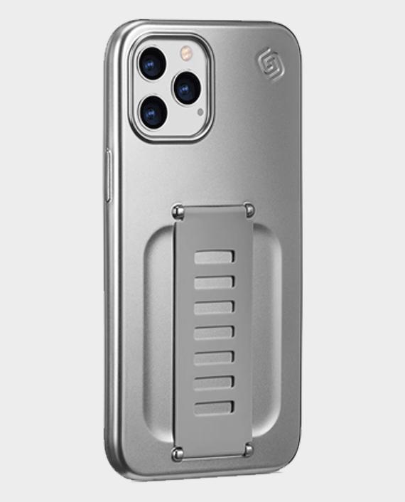 Grip2u iPhone 12 Pro Max Slim Case Metalic Silver