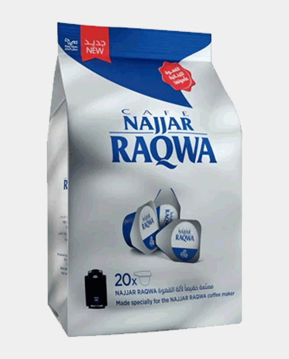 Najjar Raqwa Bag Single Cup Decaff Plain Bag 20 Pcs in Qatar