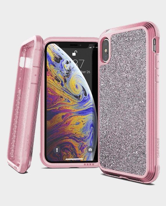 X-Doria iPhone XS Max Defense Lux Back Case Pink Glitter in Qatar