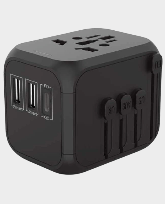 Powerology Universal Travel Adapter 2.4A PD 18W in Qatar