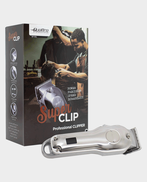 Quattro Professional Super Clip QP-K6S Cord/Cordless Hair Clipper in Qatar
