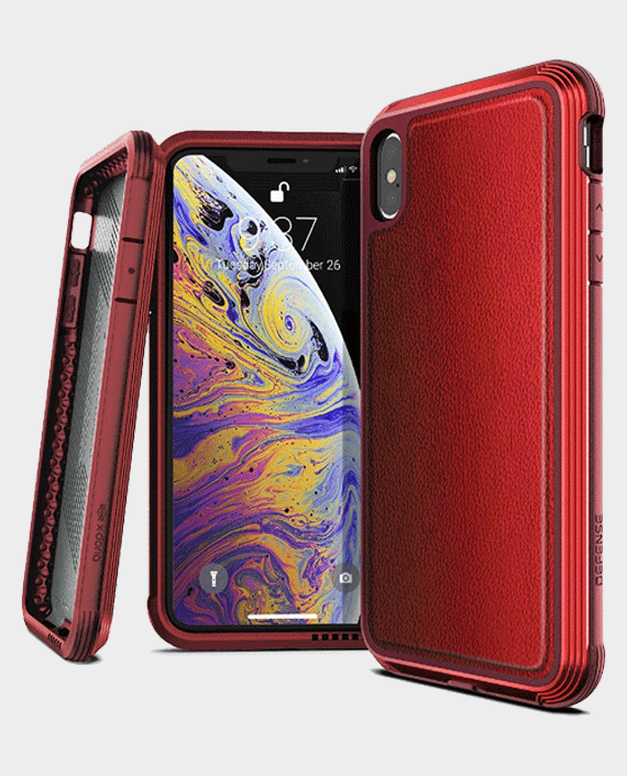 X-Doria iPhone XS Max Defense Lux Back Case Red Leather in Qatar