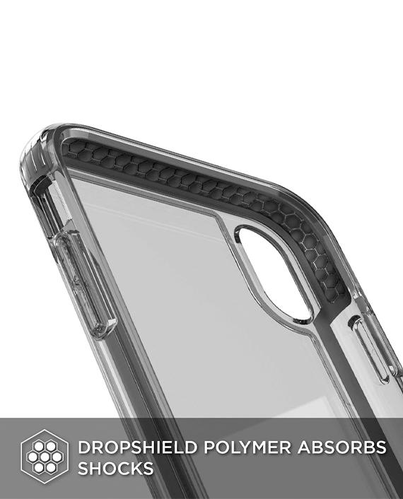 X Doria iPhone Xs Max Defense Clear Back Case Black