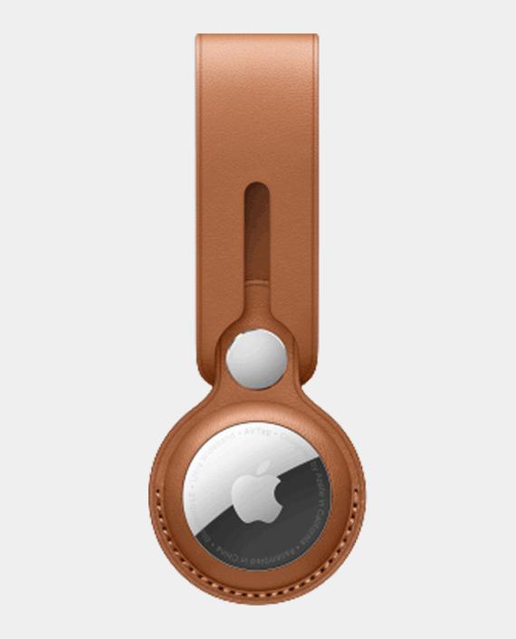 Apple AirTag Leather Loop Saddle Brown in Qatar