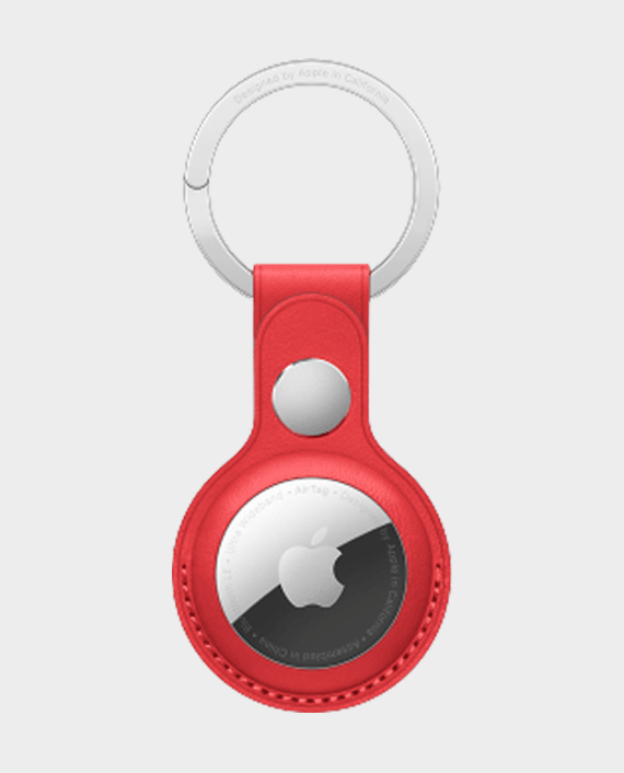 Apple AirTag Leather Key Ring Red in Qatar