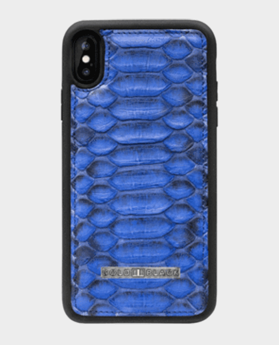 Gold Black Exotic iPhone XS Max Case Python Blue in Qatar