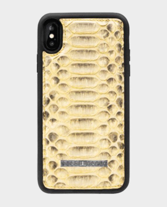 Gold Black Exotic iPhone XS Max Case Python Yellow in Qatar