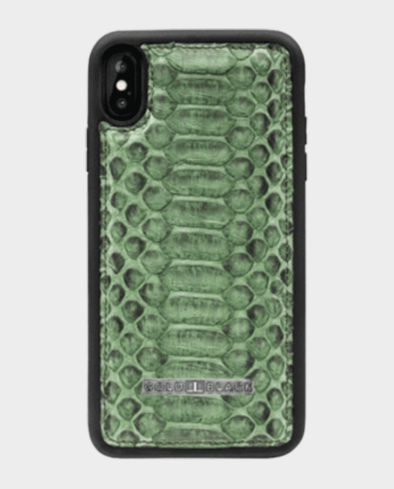 Gold Black Exotic iPhone XS Max Case Python Grass Green in Qatar