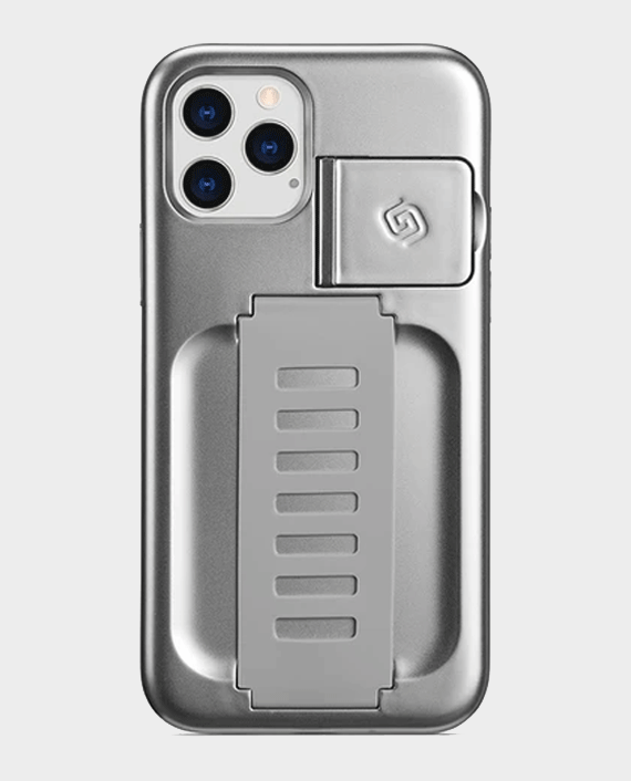 Grip2u iPhone 12/12 Pro Boost Case with Kickstand Metalic Silver in Qatar