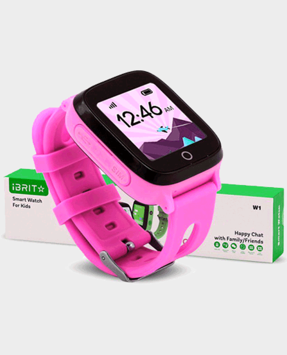 iBRIT W1 Kids Smart Watch Pink in Qatar