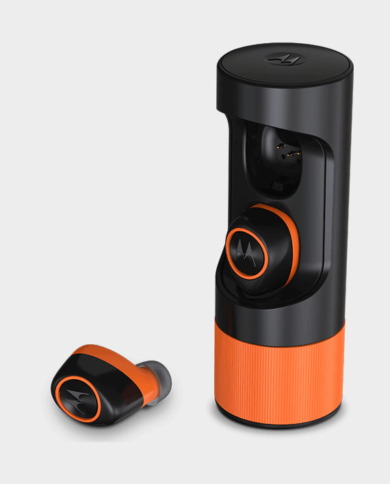 Motorola Verve Ones Music Edition True Wireless Bluetooth Earbuds Black/Orange in Qatar