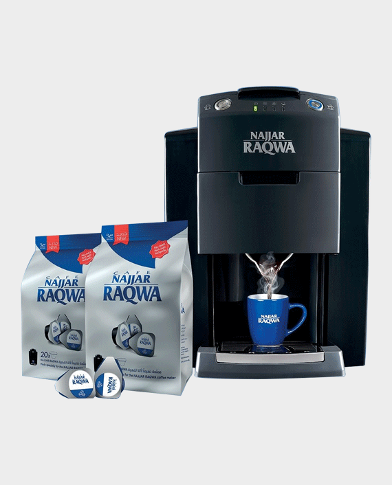 Najjar Raqwa Turkish Coffee Machine with 2 Najjar Raqwa Bags in Qatar