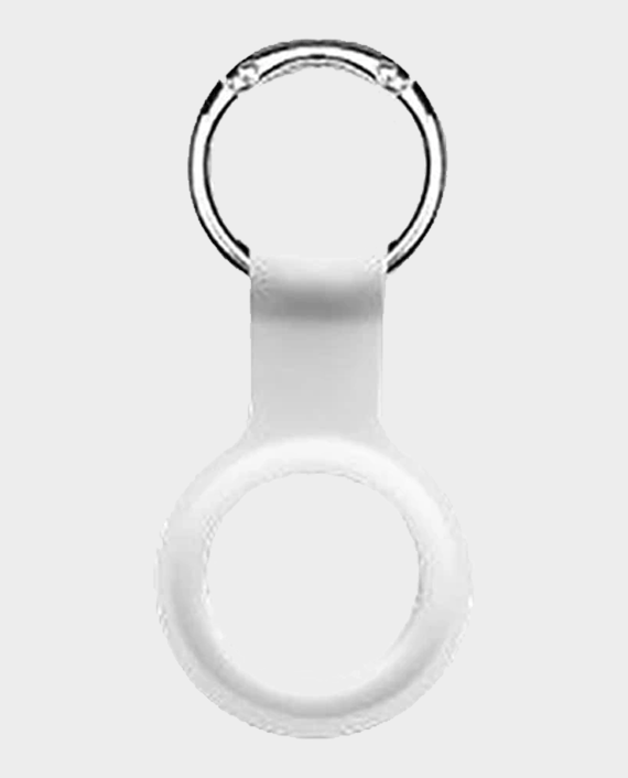 Devia Silicone Case With Key Ring For AirTag White in Qatar