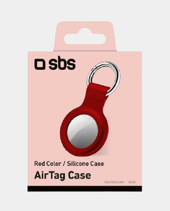 Devia Silicone Case With Key Ring For Airtag - Red