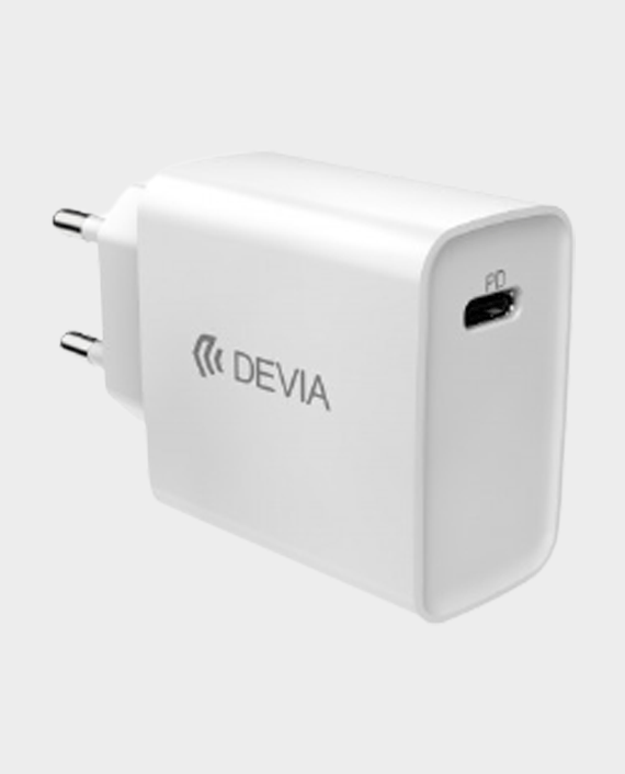Devia Smart Series PD Quick Charger Set with Type-C to Lightning Cable UK 18W White in Qatar