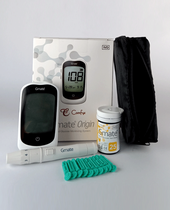 Gmate Orgin Glucose Monitor PG310 + 25 Strip + 10 Lancet in Qatar