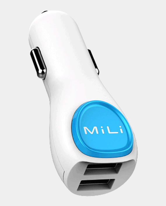 MiLi Power Smart Dual Car Charger with Lightning Cable White