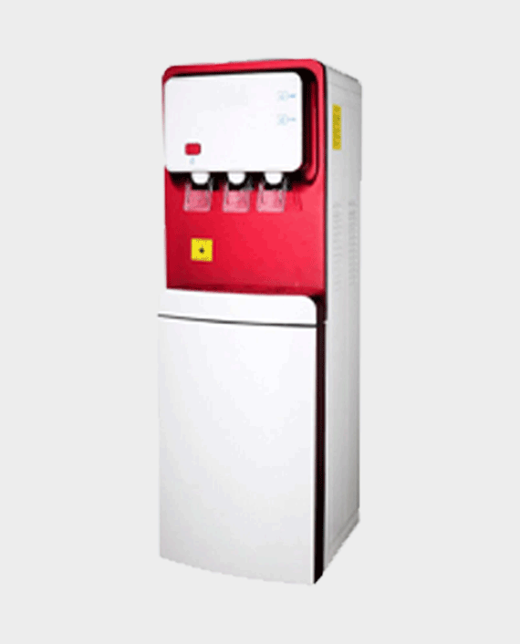 Milestone Water Dispenser with Fridge Red in Qatar