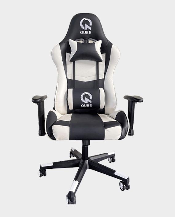 QUBE Levin M2103010BW Gaming Chair - Black/Pearl White in Qatar