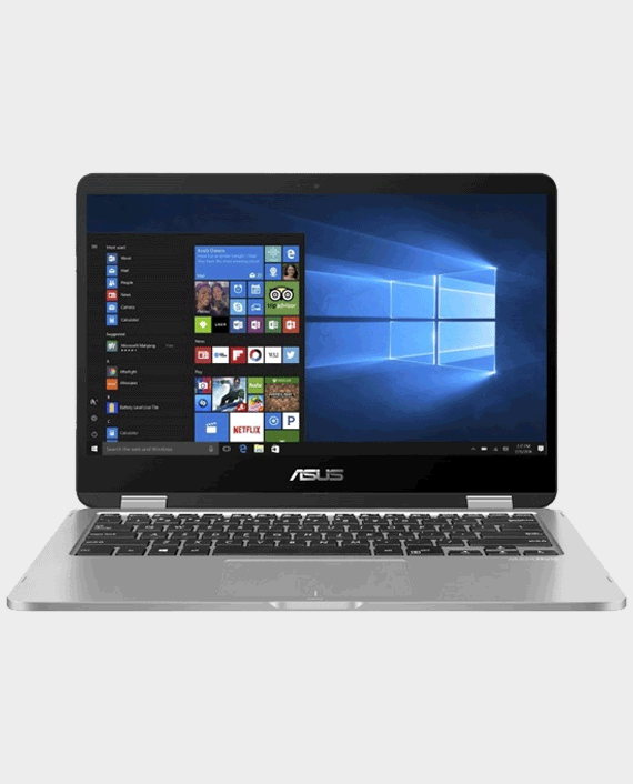 Asus VivoBook Flip 14 / TP412FA-EC403T / Intel Core i3-10110U / 4GB RAM / 256 SSD / Intel UHD Graphics / 14-inch Touch Screen / Windows 10 Silver Blue in Qatar