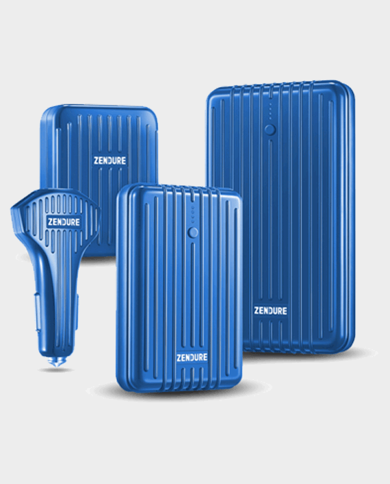 Zendure PD Home and Car Pack (A3PD + A5PD + 4 Port 30W + 3Port PD Car Charger) Blue in Qatar