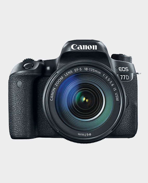 Canon EOS 77D 24.2MP DSLR Camera with EF-S 18-135 mm 3.5-5.6 IS USM Lens Black in Qatar