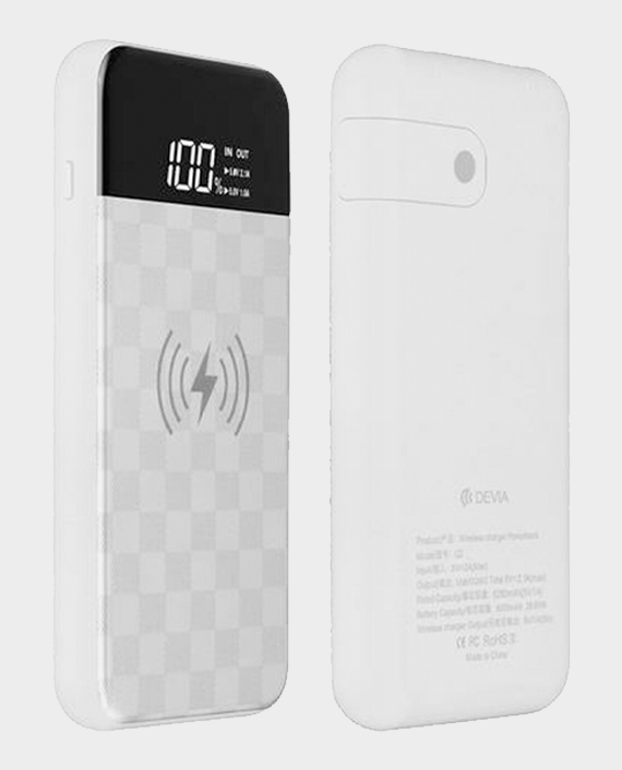 Devia Ju Series Wireless Power Bank 8000mah White in Qatar