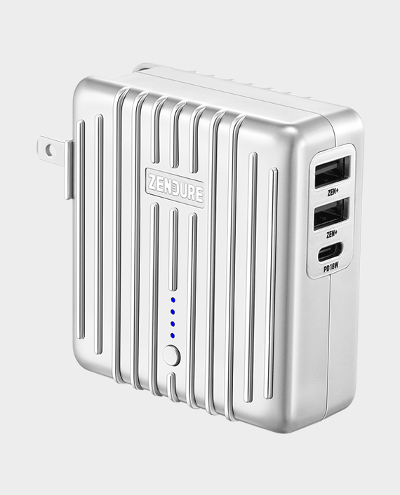 Zendure Mix 2 In 1 5200mAH Power Bank And Wall Charger With 18W PD Silver in Qatar