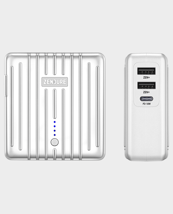 Zendure Mix 2 In 1 5200mAH Power Bank And Wall Charger With 18W PD- Silver
