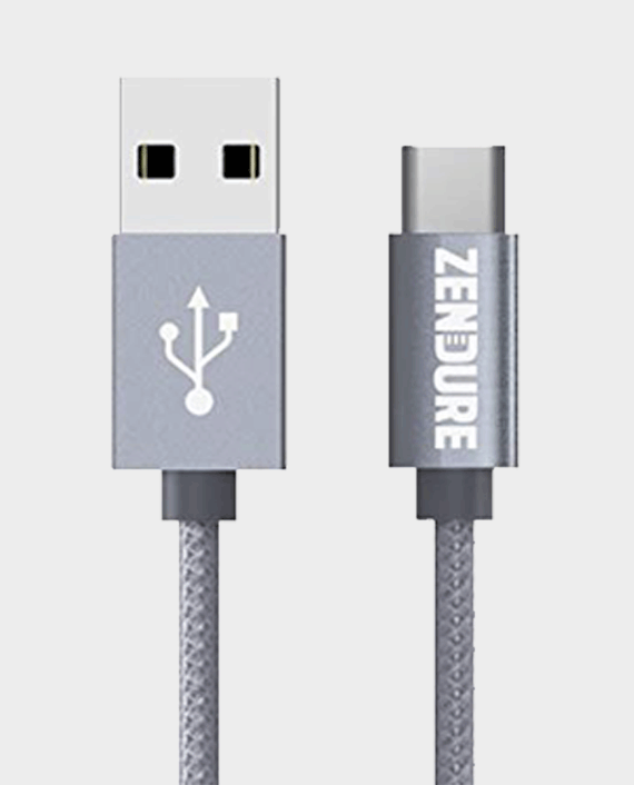 Zendure Braided Aluminum Charge / Sync Type-C Cable 30cm Grey in Qatar