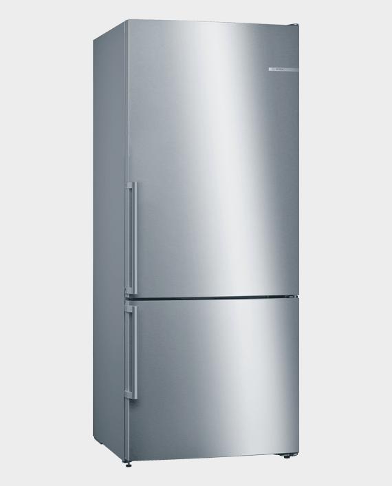 Bosch KGN76DI30M Series 6 Free-Standing Fridge-Freezer with Freezer at Bottom Stainless Steel in Qatar