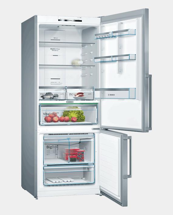Bosch KGN76DI30M Series 6 Free-Standing Fridge-Freezer with Freezer at Bottom Stainless Steel