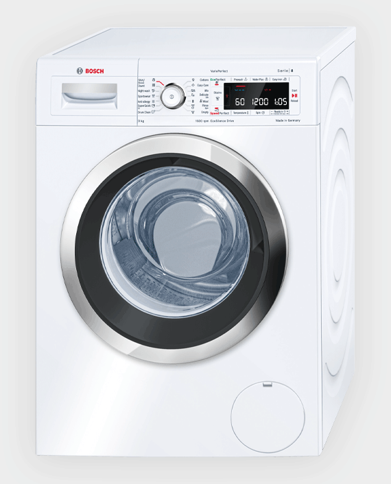 Bosch WAW32560GC Series 8 Front Loader Washing Machine 9 kg White in Qatar