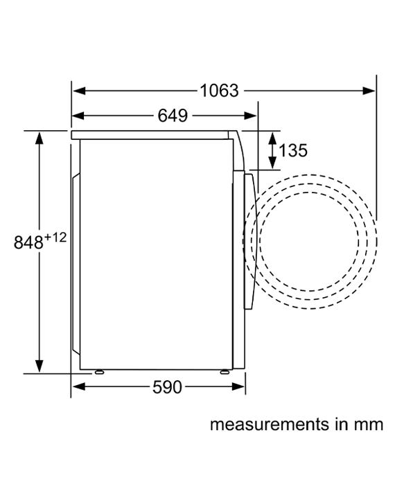 Bosch WVG30460GC Series 6 Washer Dryer 8 5 kg