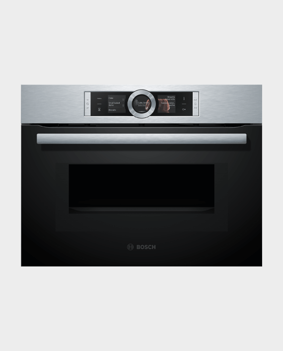Bosch CMG656BS1M Series 8 Built-in Compact Oven with Microwave Function Stainless Steel in Qatar