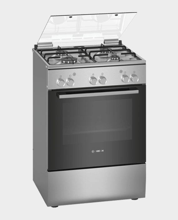 Bosch HGA120B50M Series 2 Free Standing Gas Cooker Stainless Steel in Qatar