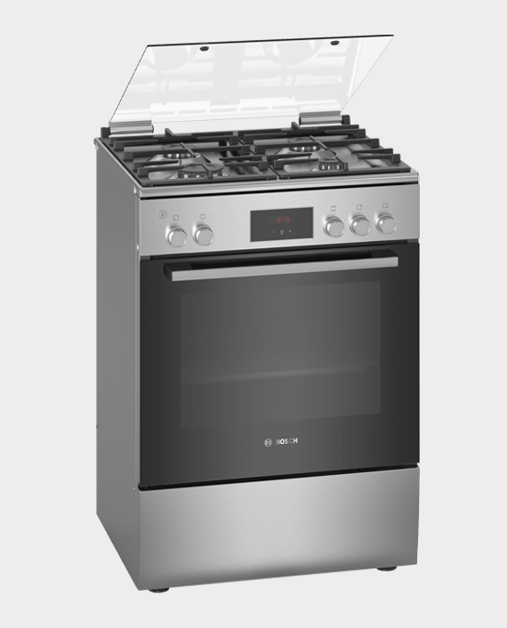 Bosch HGB320E50M Serie 4 Free Standing Gas Cooker Stainless Steel in Qatar