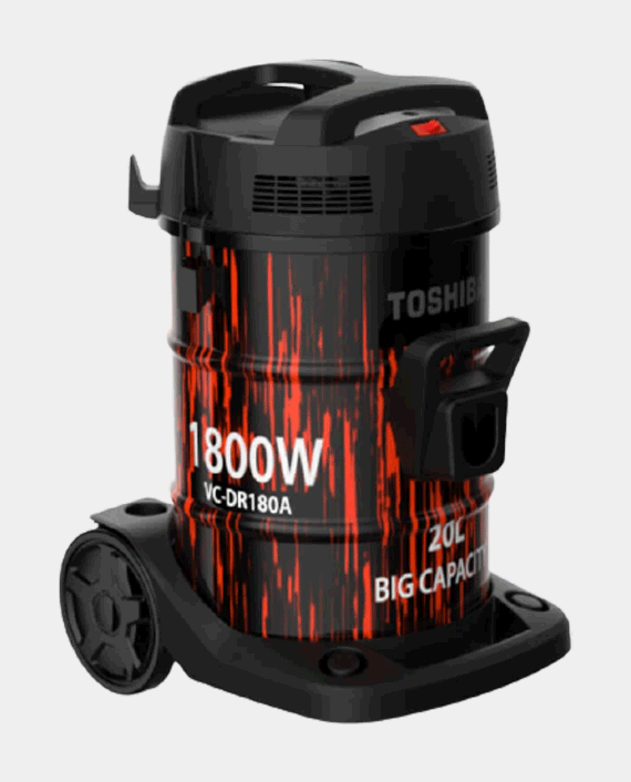 Toshiba VC-DR180ABF 20L 1800W Electric Vacuum Cleaner Black & Red in Qatar