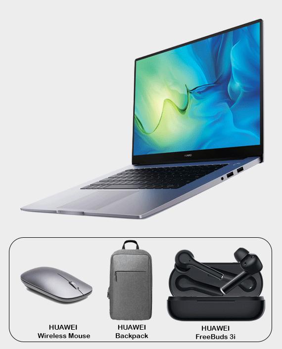 Huawei MateBook D15 WAI9A 8GB Ram 256GB SSD Core i3 15.6 Inch FHD Windows 10 Space Grey in Qatar