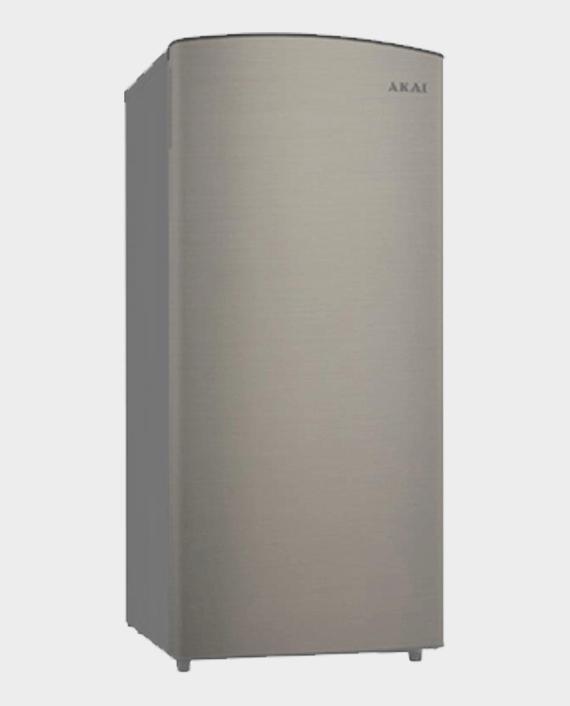 Akai AKRS190L 190L Single Door Refrigerator Silver in Qatar